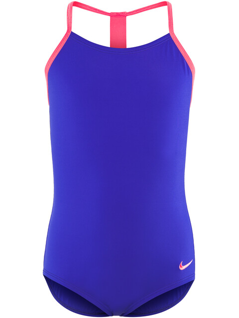 Nike Swim Solids T-Back One Piece Girls racer blue